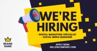 We are hiring ad Gedeelde afbeelding op Facebook template