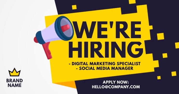 We are hiring ad Facebook Shared Image template