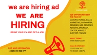 We Are Hiring Ad Header Blog template