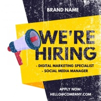 We are hiring ad โพสต์บน Instagram template