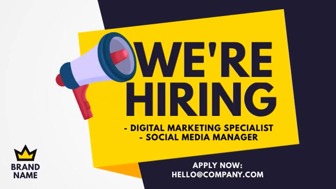 We are hiring ad Facebook-covervideo (16:9) template