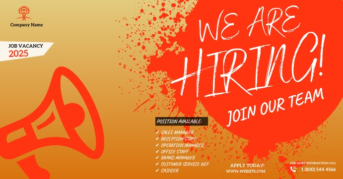 We Are Hiring Ad Facebook Event Cover template