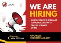 We are hiring ad Postkort template