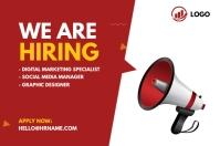 We are hiring ad Cartel de 4 × 6 pulg. template