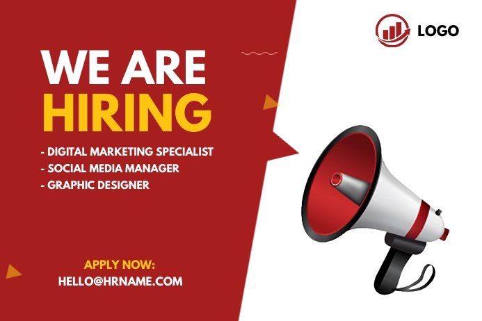 We are hiring ad 横幅 4' × 6' template