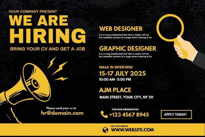 We are hiring ad Etykieta template
