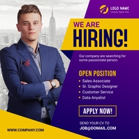 We are hiring banner Instagram Post template