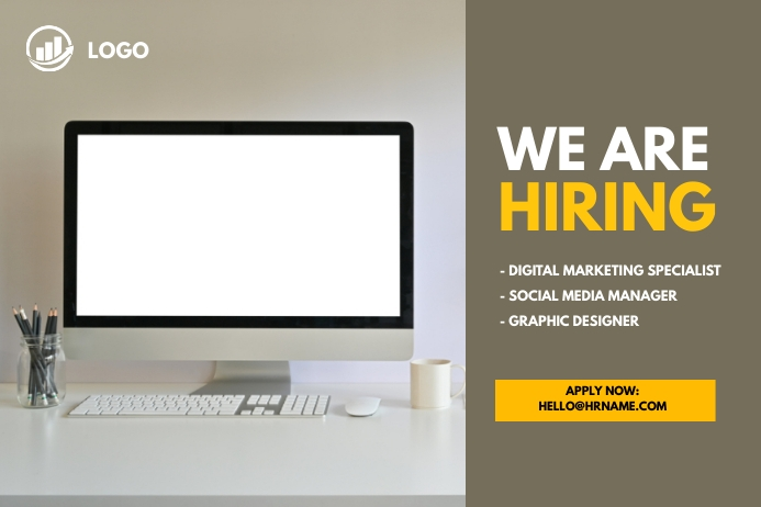 We are hiring Banner Transparent 4 stopy × 6 stóp template