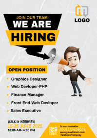 we are hiring bannner A4 template
