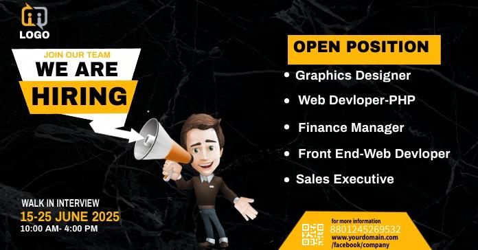 we are hiring bannner Anuncio de Facebook template