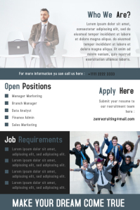 We are Hiring Business Flyer & Poster Template Design