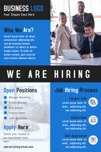 We Are Hiring Business Poster & Flyer Template Design