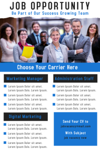 We Are Hiring Corporate Business Poster Design Template