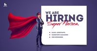 We Are Hiring Corporate Poster Gedeelde afbeelding op Facebook template