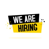 We are Hiring Logo template