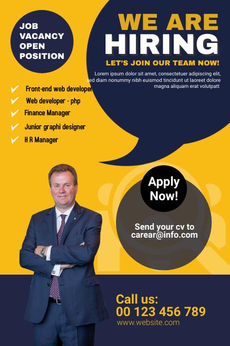 We are hiring โปสเตอร์ template