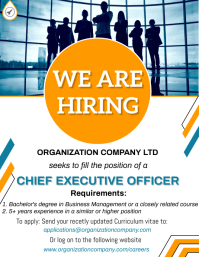 We are hiring Flyer (US Letter) template