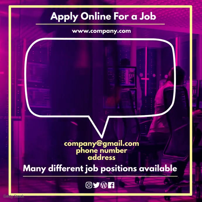 We Are Hiring Post Instagram template