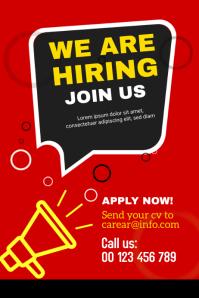 We are hiring Cartel de 4 × 6 pulg. template