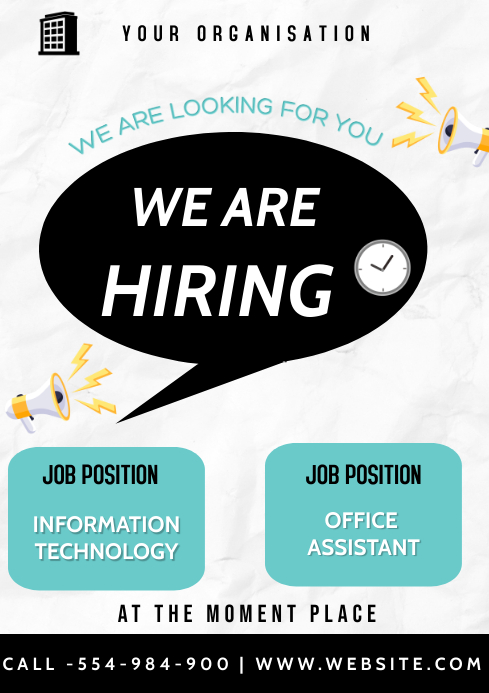 We are Hiring A3 template