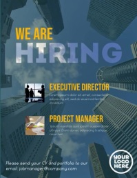 We are hiring executive corporate flyer video Iflaya (Incwadi ye-US) template