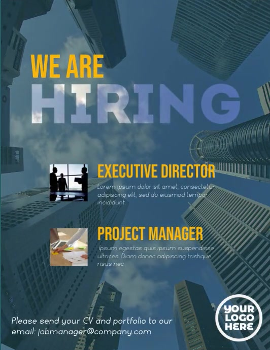 We are hiring executive corporate flyer video Pamflet (VSA Brief) template