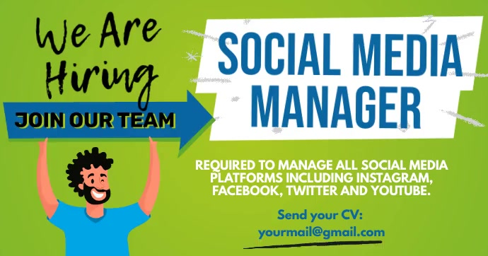 We Are Hiring Facebook Gif Post Template