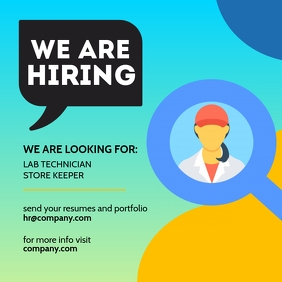 We Are Hiring Facebook Post