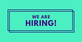 We Are Hiring Facebook Post Neon template