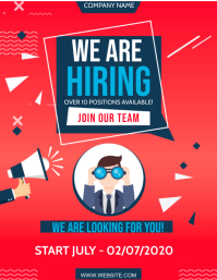 WE ARE HIRING FLYER AD Template