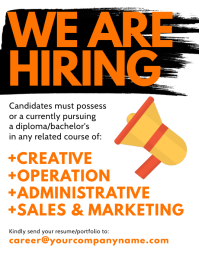 We Are Hiring Flyer Рекламная листовка (US Letter) template