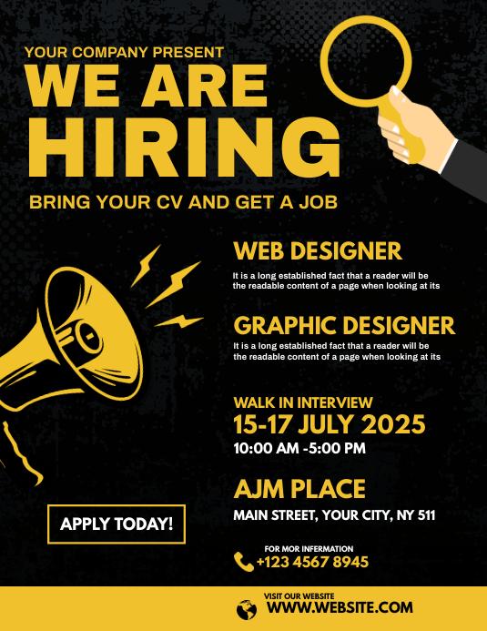 We are hiring flyer Iflaya (Incwadi ye-US) template