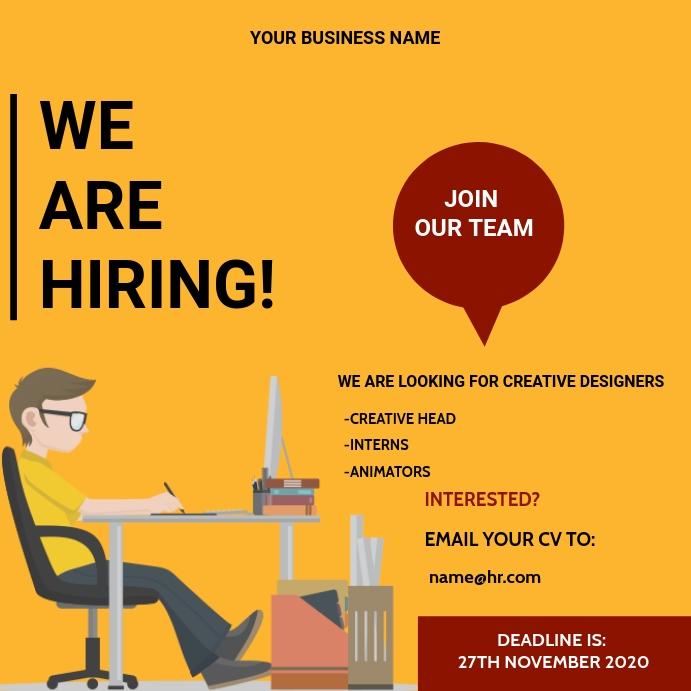 We are hiring flyer Instagram-bericht template