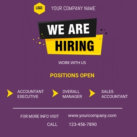 We are hiring flyer flyer