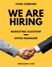 We Are Hiring Flyer Handshake