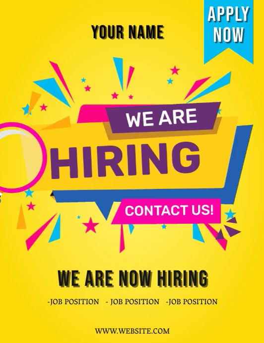 WE ARE HIRING Flyer Template Volante (Carta US)