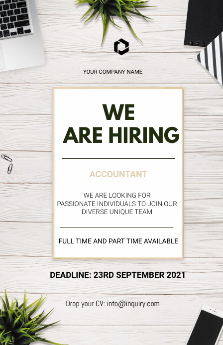 We are hiring Flyers Tabloïd template