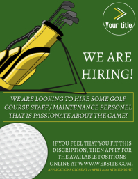 WE ARE HIRING GOLF POSTER FLYER TEMPLATE