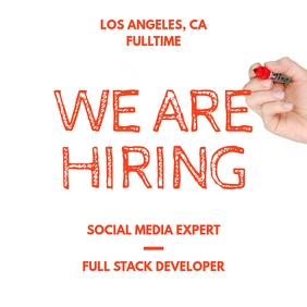 We Are Hiring Handwritten Pencil Post