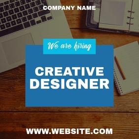 We are hiring instagram post