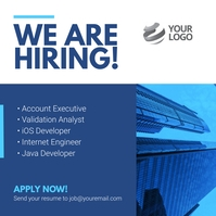 We are Hiring Job advertisment Instagram Post