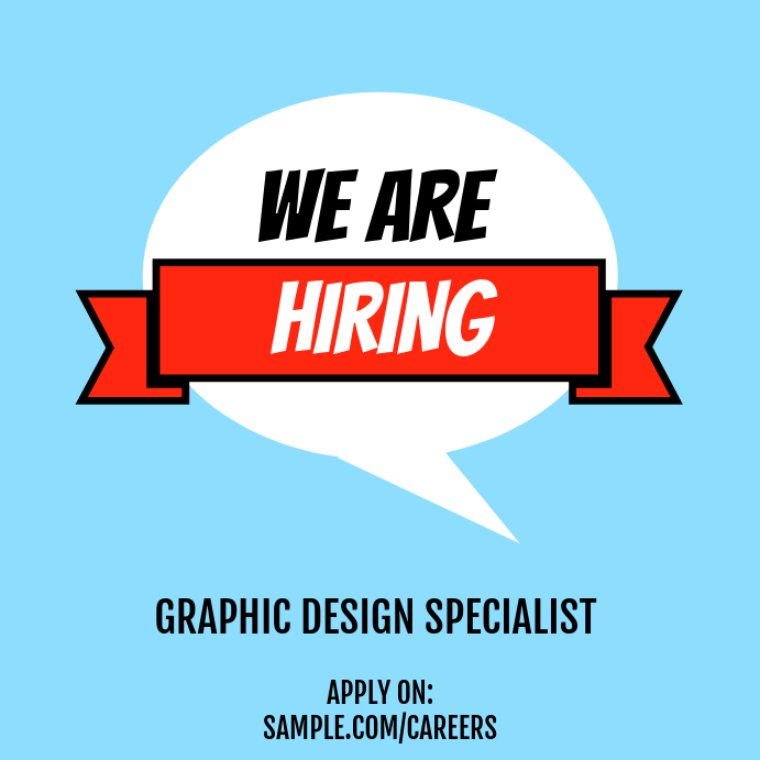 We Are Hiring Job Application Post