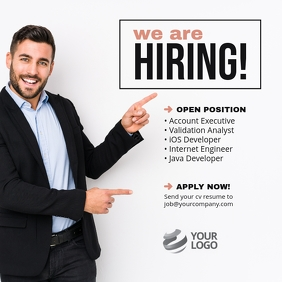 We are Hiring Job Instagram Post