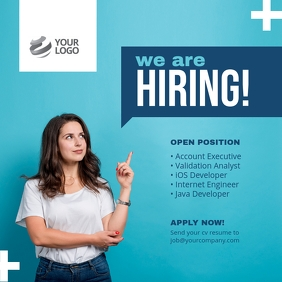 We are Hiring Job Instagram Post template