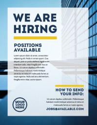 We are hiring jobs available flyer ad