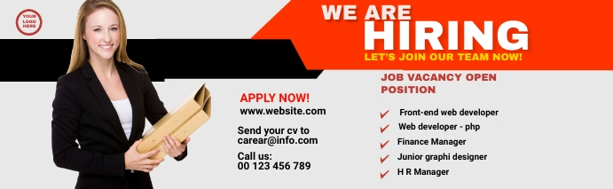 We are hiring LinkedIn Career Cover template