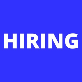 We Are Hiring Now Animated Blue
