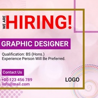 We are hiring now design template