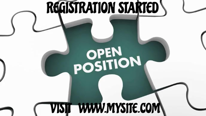 We are hiring open position company video template