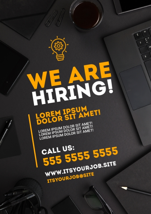 WE ARE HIRING POSTER A4 template